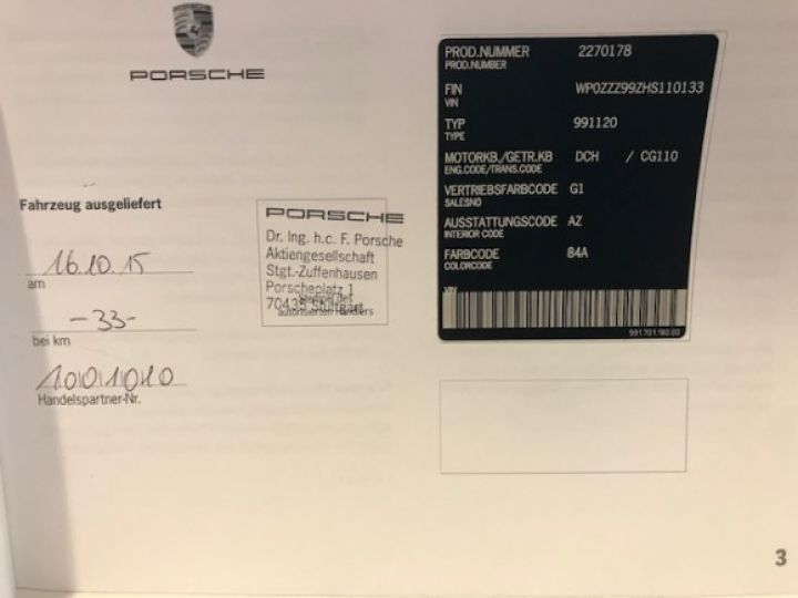 Porsche 991 CARRERA S 30 PDK 420Ch COUPE - 21